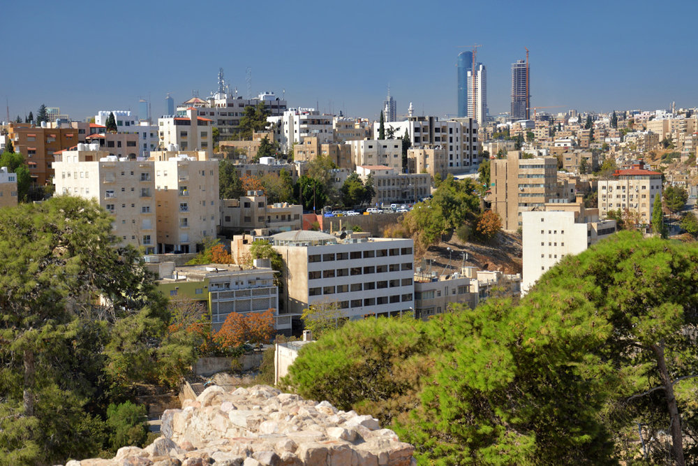 Financial district of Amman