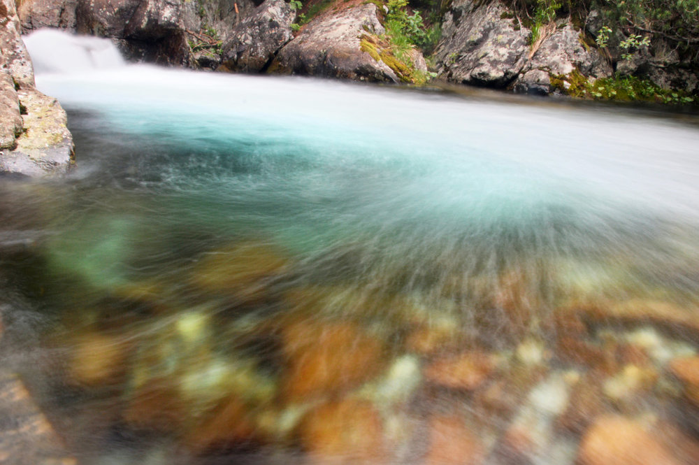 Long exposure photo of the stream