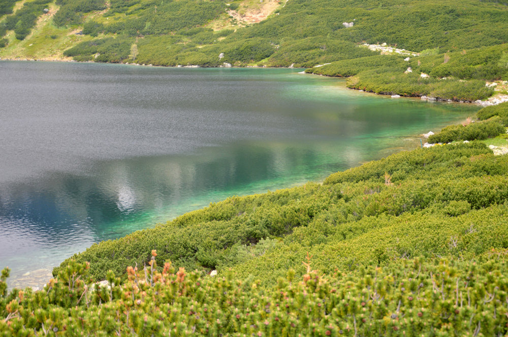 Emerald waters of Wielki Staw Polski (The Great Polish Lake)