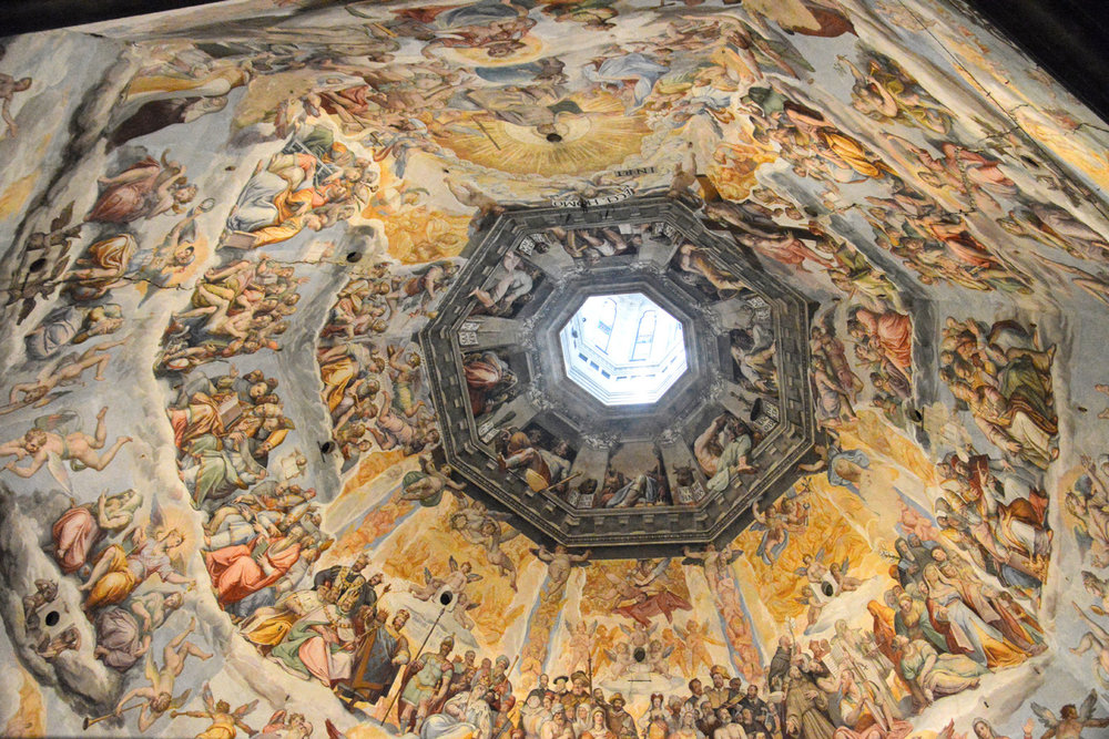 The dome inside the cathedral