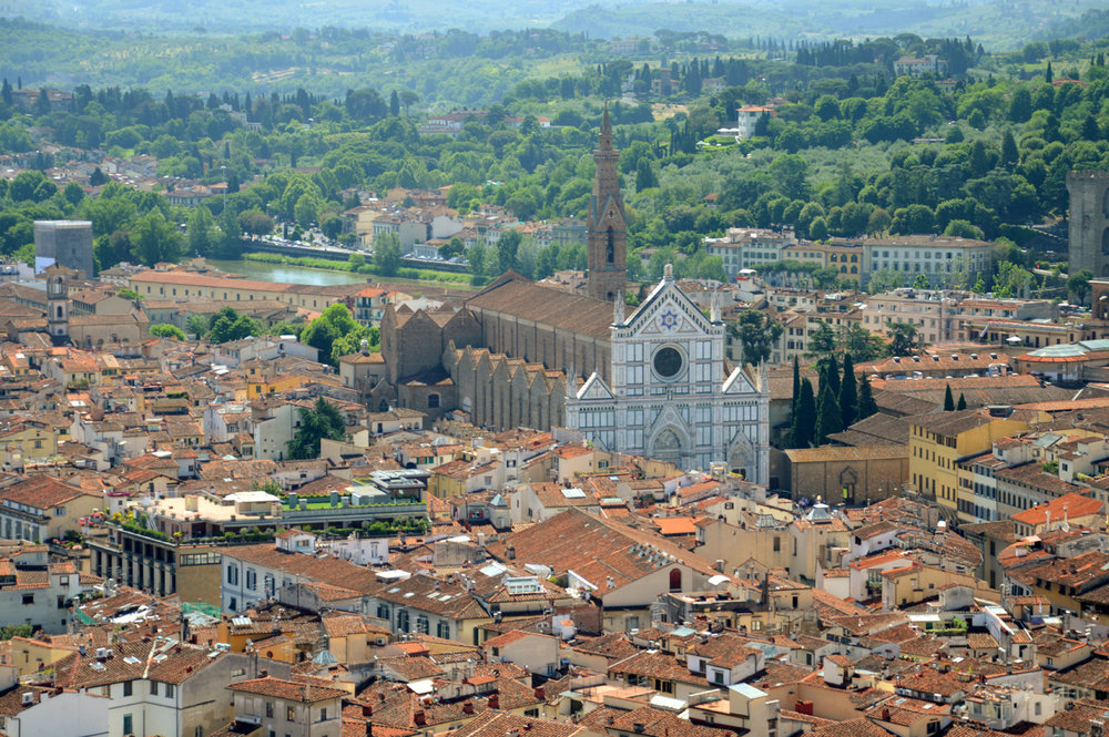 Basilica of Santa Croce - view from the Cathedral Dome