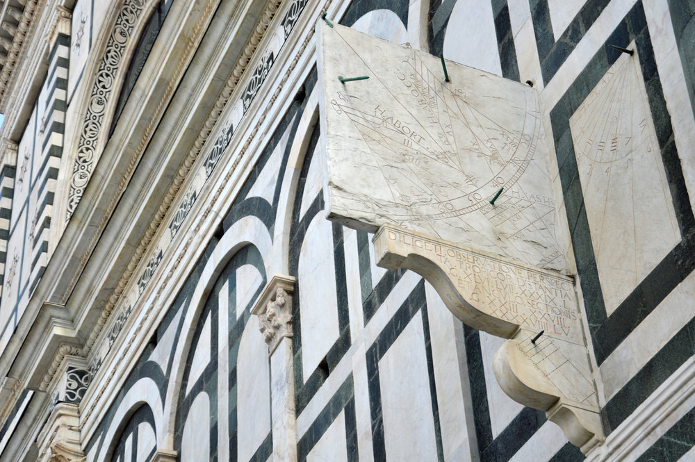 Sundial on the facade of Santa Maria Novella