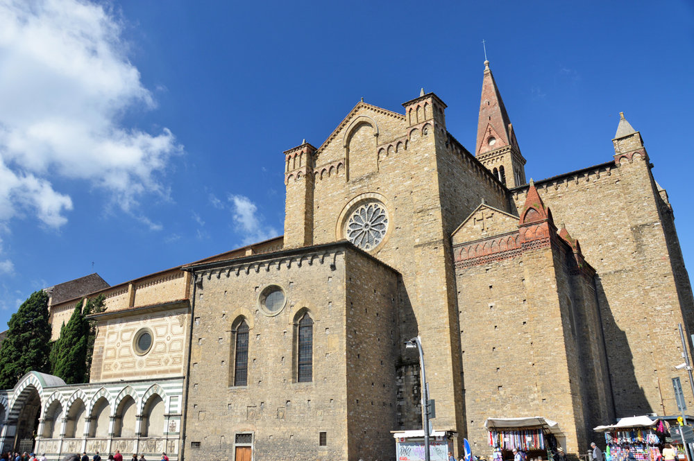 The rear side of Santa Maria Novella Basilica