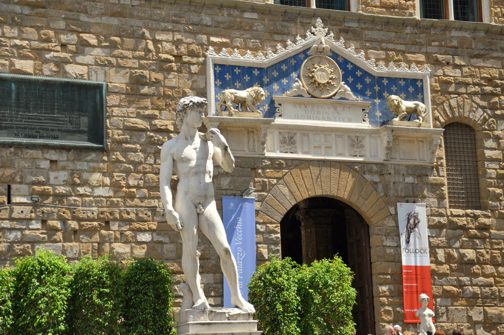 The statue of David at Piazza della Signoria