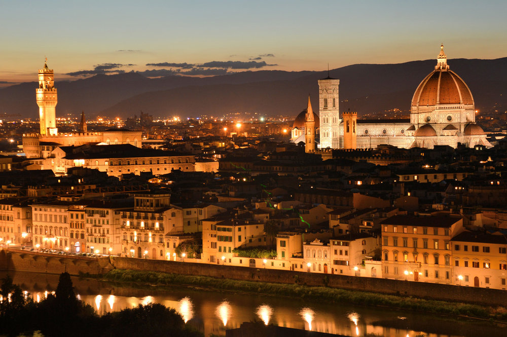 Florence at night - view from San Miniato al Monte