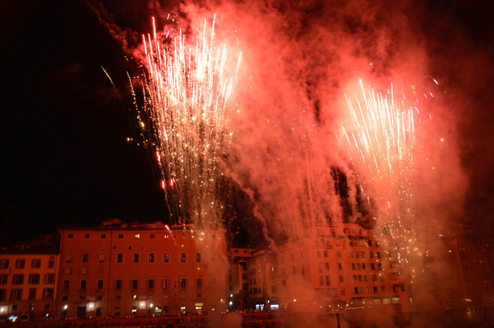 Fireworks in Florence