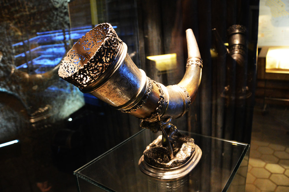 Horn - an artifact in the museum