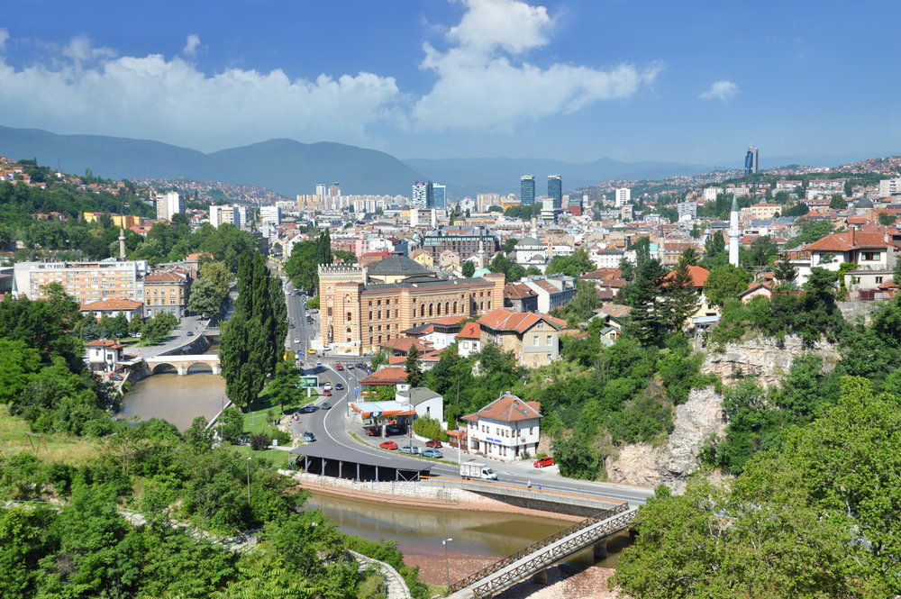 Sarajevo - view from Yellow Fortress