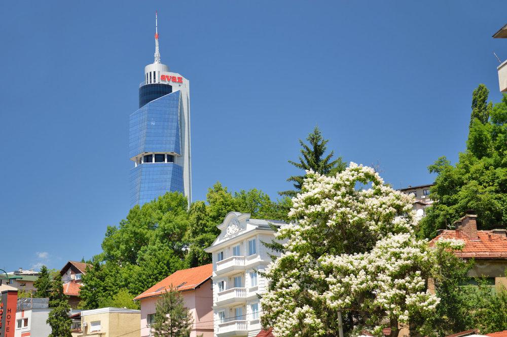 Modern area of Sarajevo