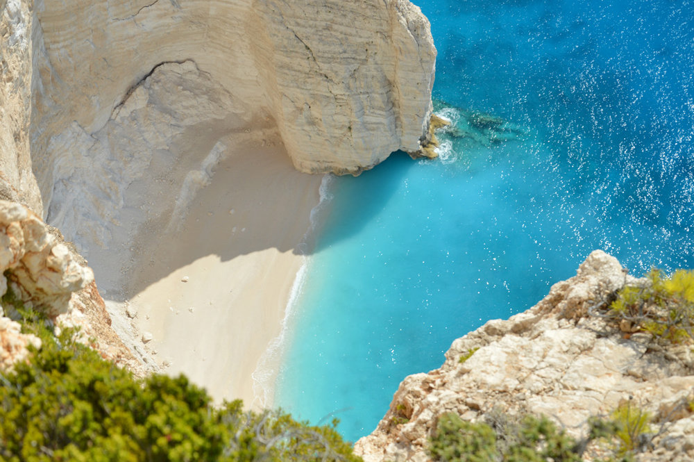 Little beach before the Navagio beach