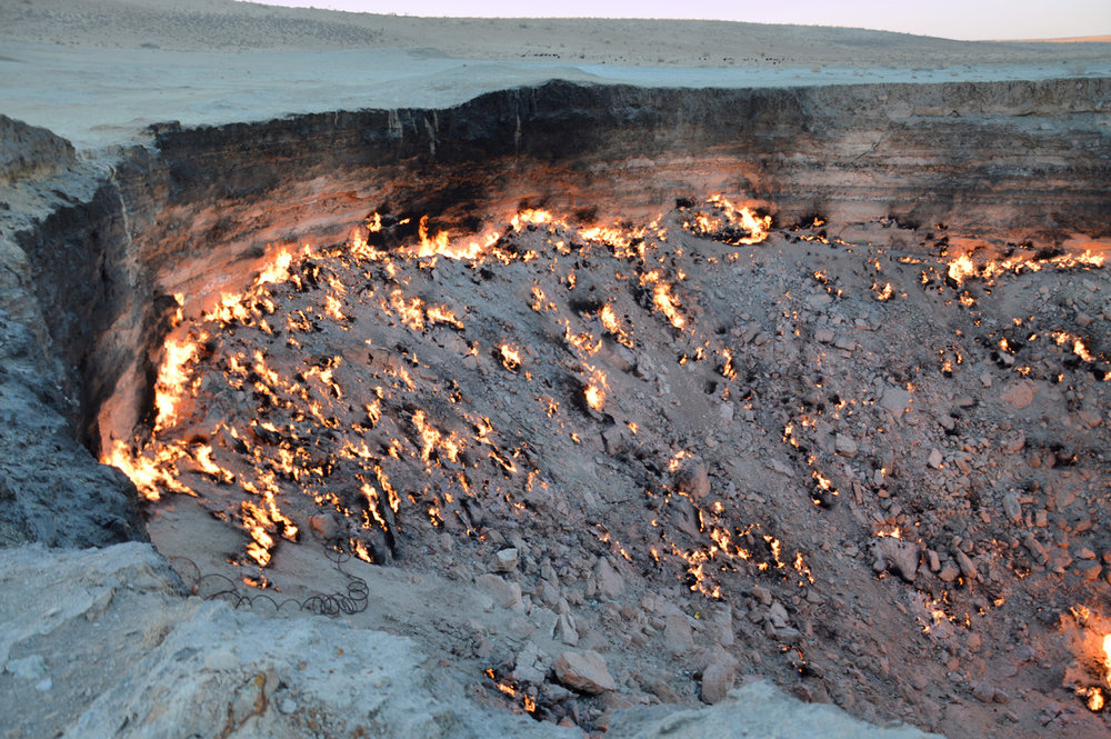 Door to hell crater