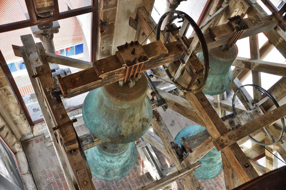 The bells in the tower