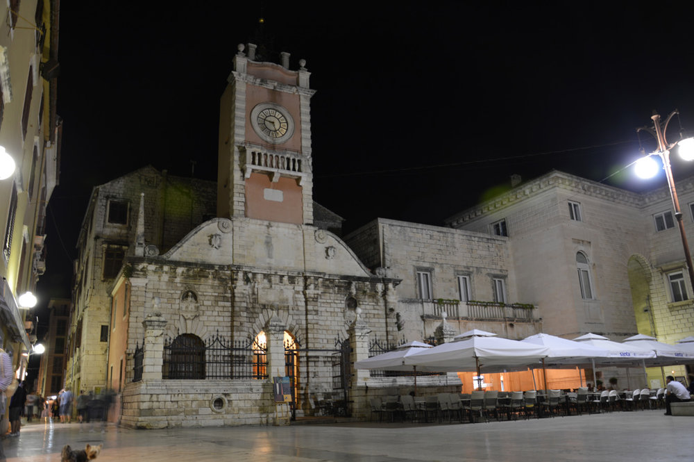 Zadar old town at night