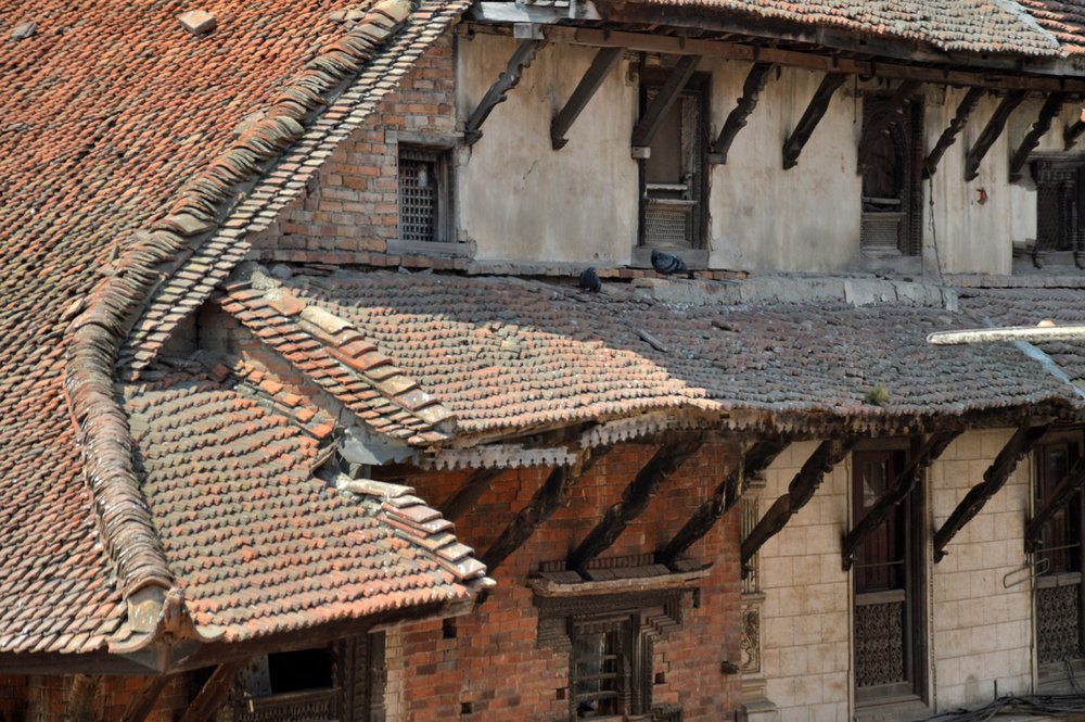 The architecture in Bhaktapur