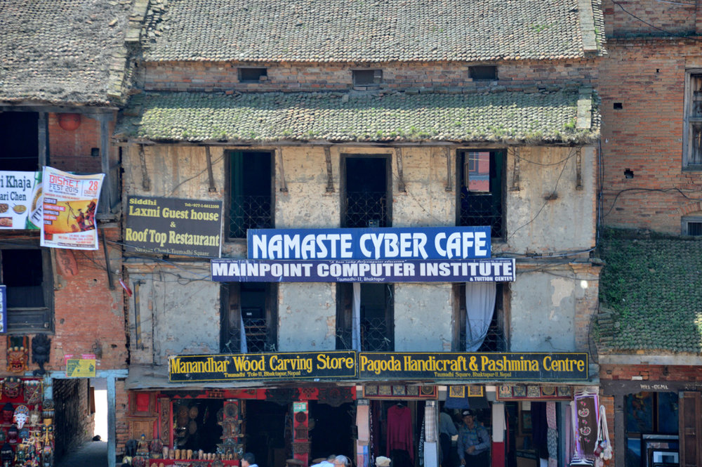 Cyber Cafe in a traditional building