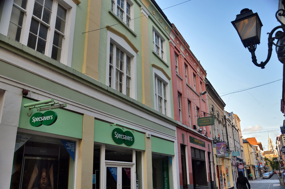Colorful buildings in Cork