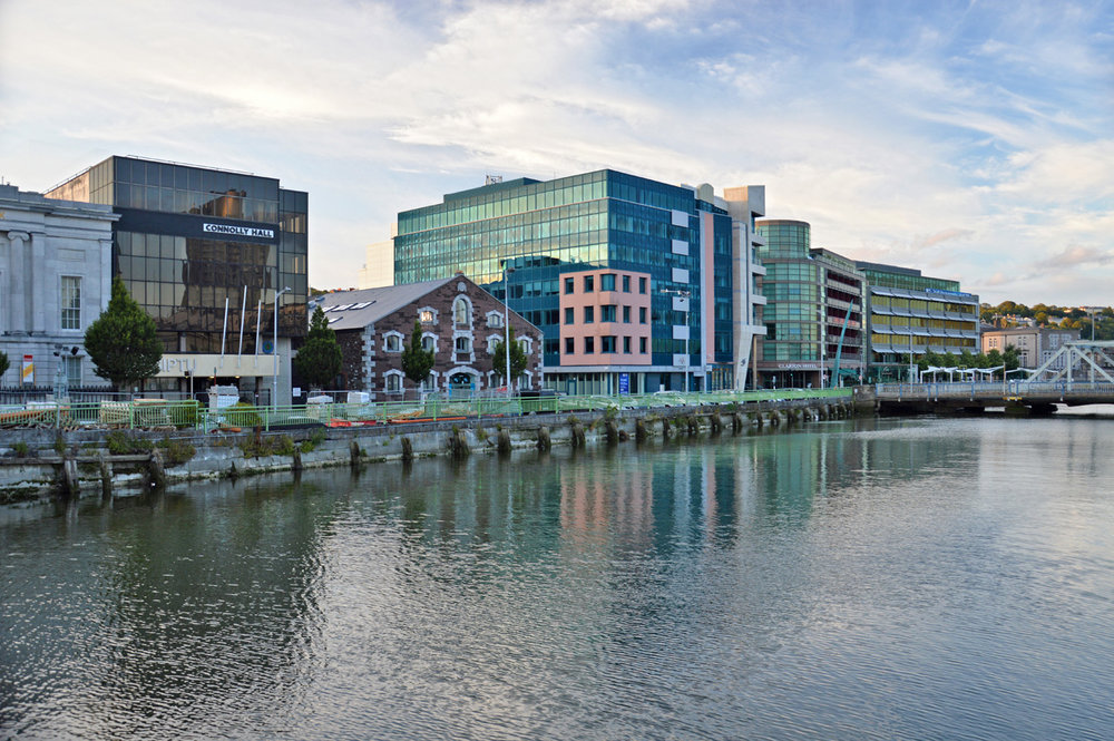 Modern Part of the city on the River Lee