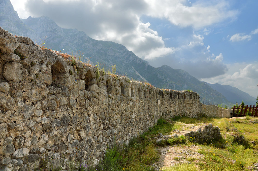 Medieval defensive walls