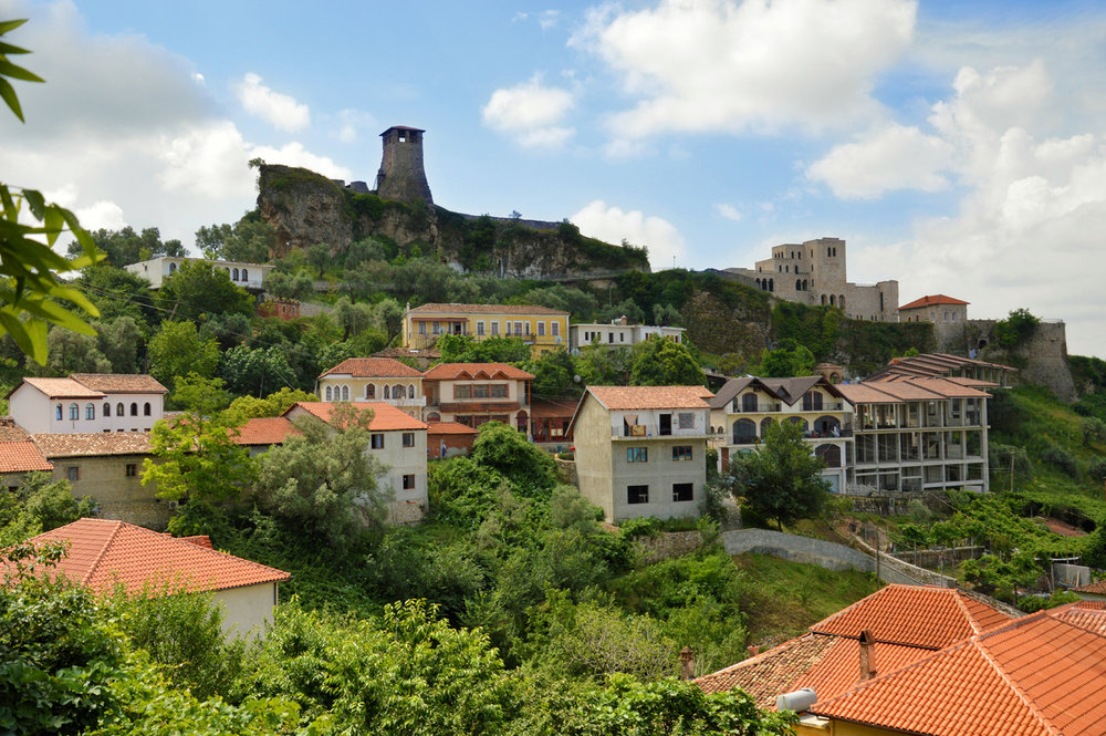 Kruja - the castle, the tower and the modern part