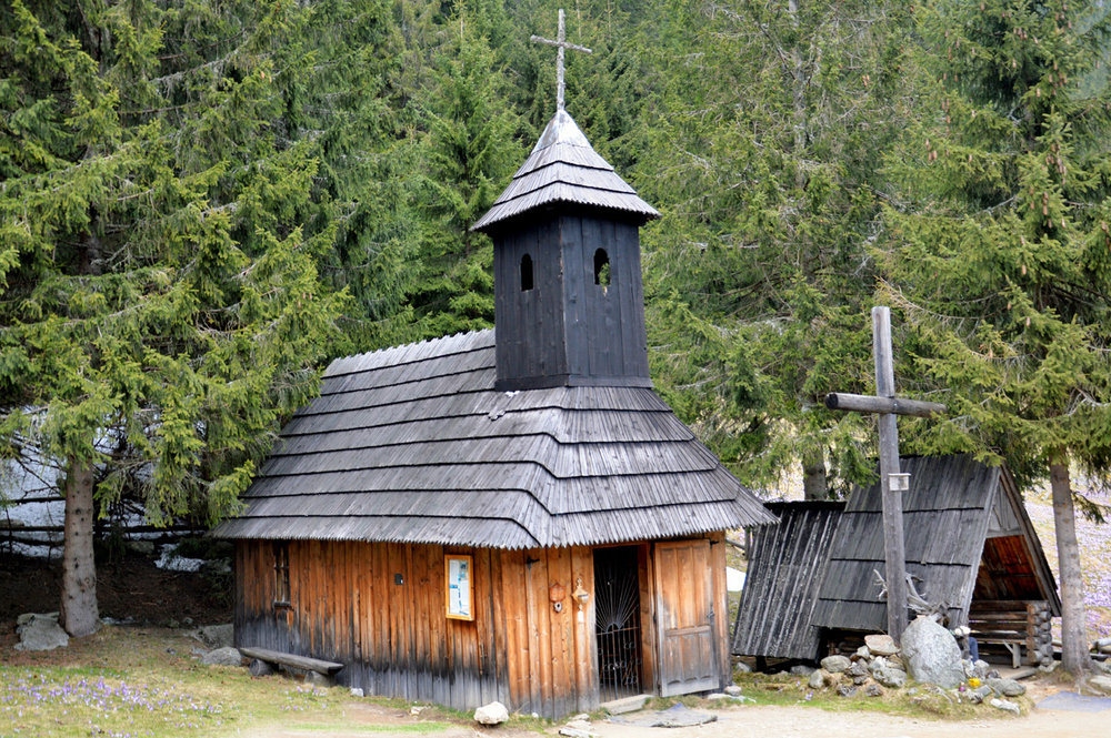 A wooden chapel at Chocholowska Valley
