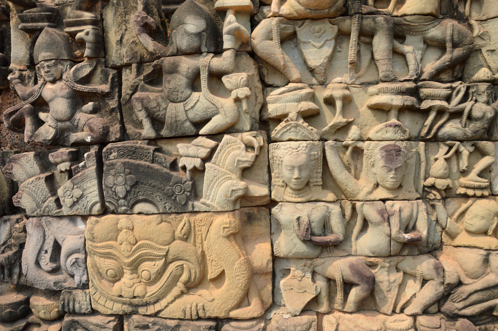 The walls of Angkor Thom