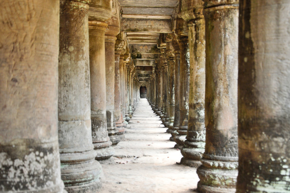 Columns at Baphoun Temple