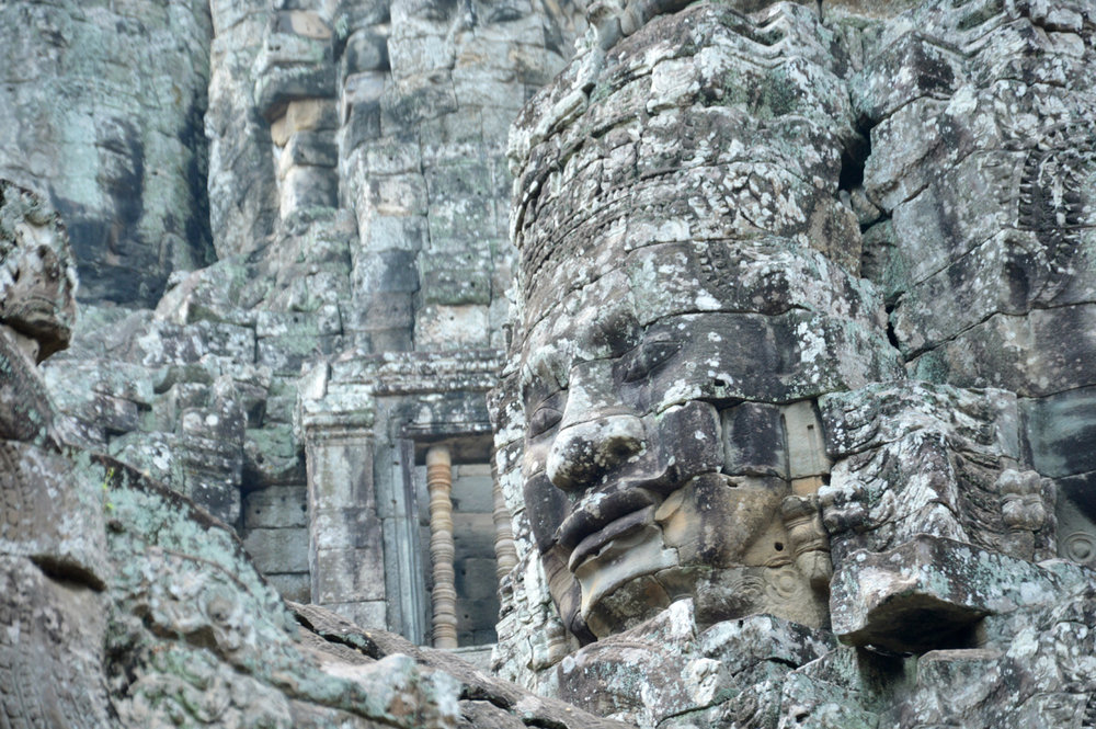 The famous faces at Bayon