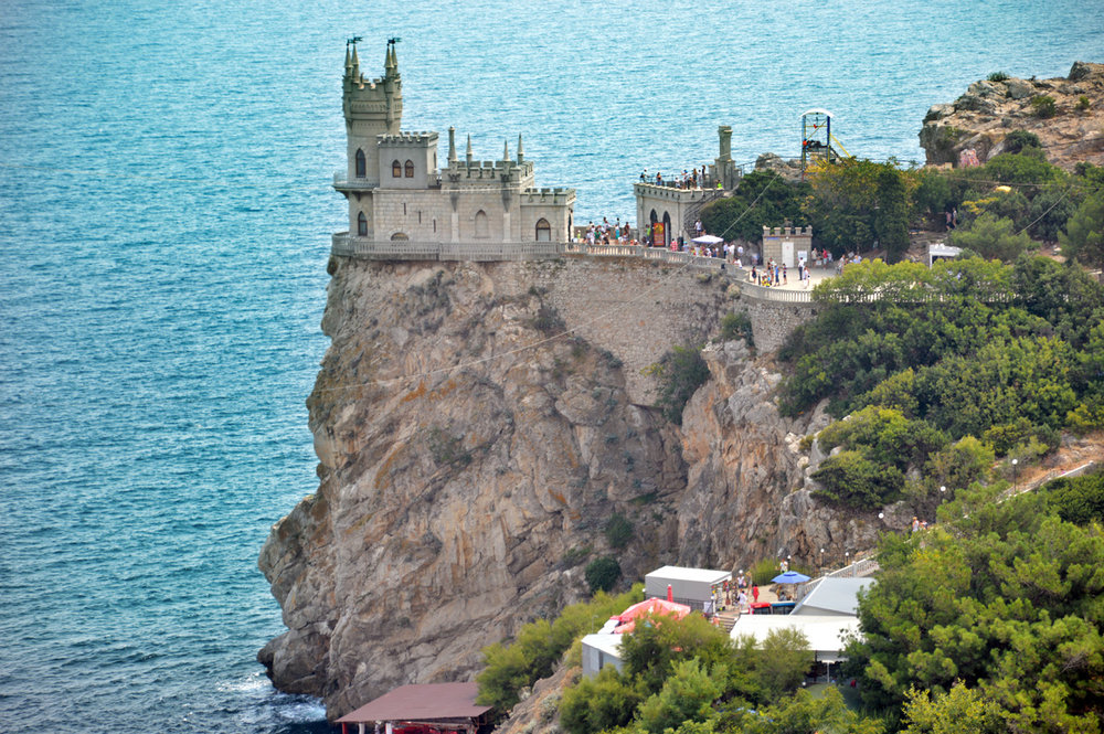 The Swallow's Nest castle from afar