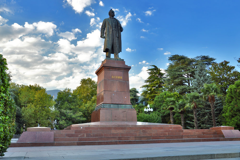 The statue of Lenin