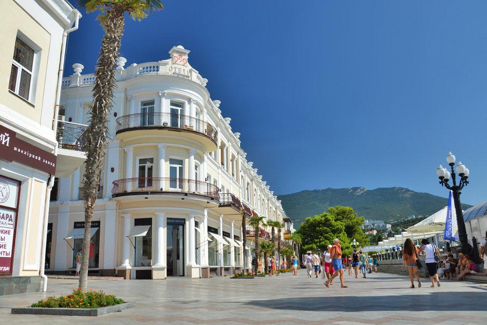 Lenin's Embamkment - Yalta's main promenade