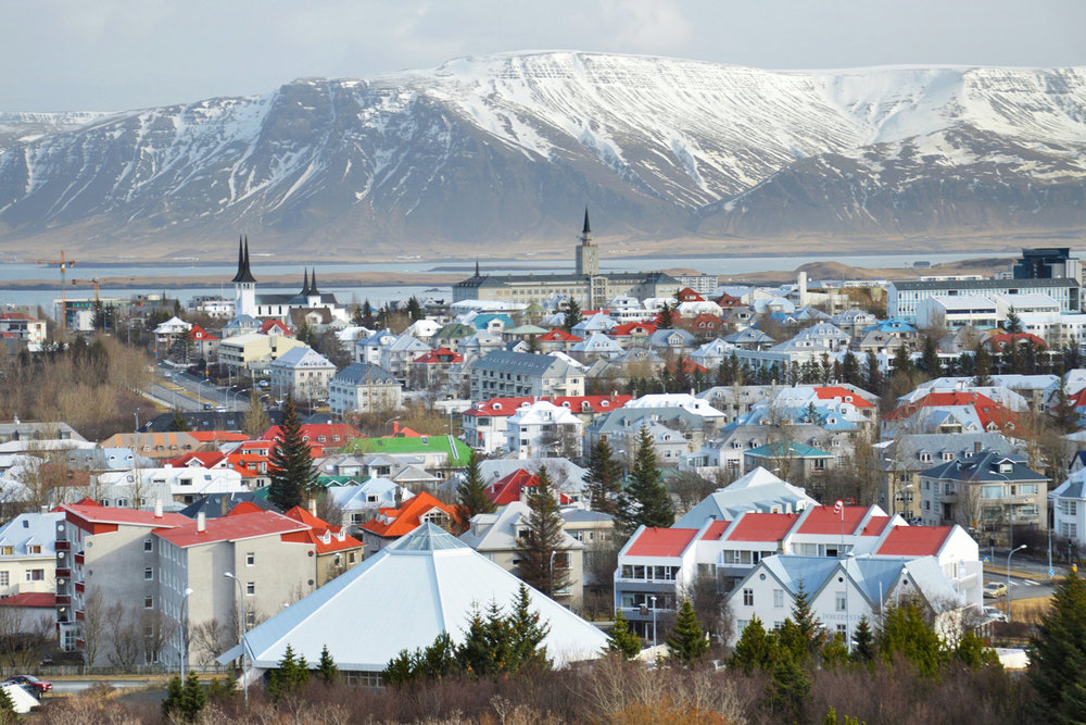 Reykjavik from the dome - viewing platform of Perlan
