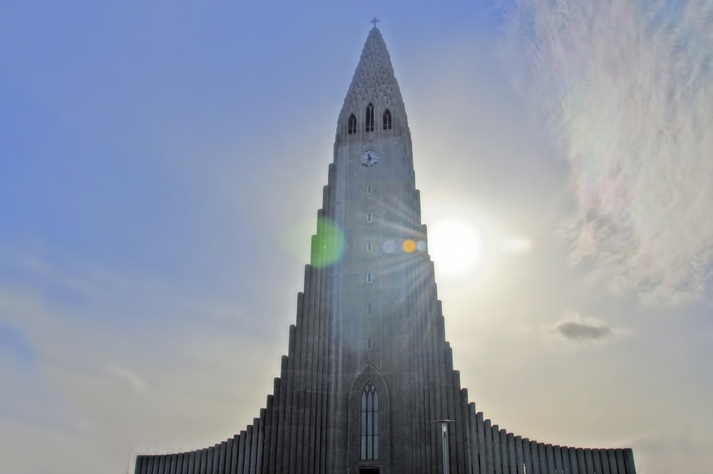 HDR photo of Hallgrímskirkja church