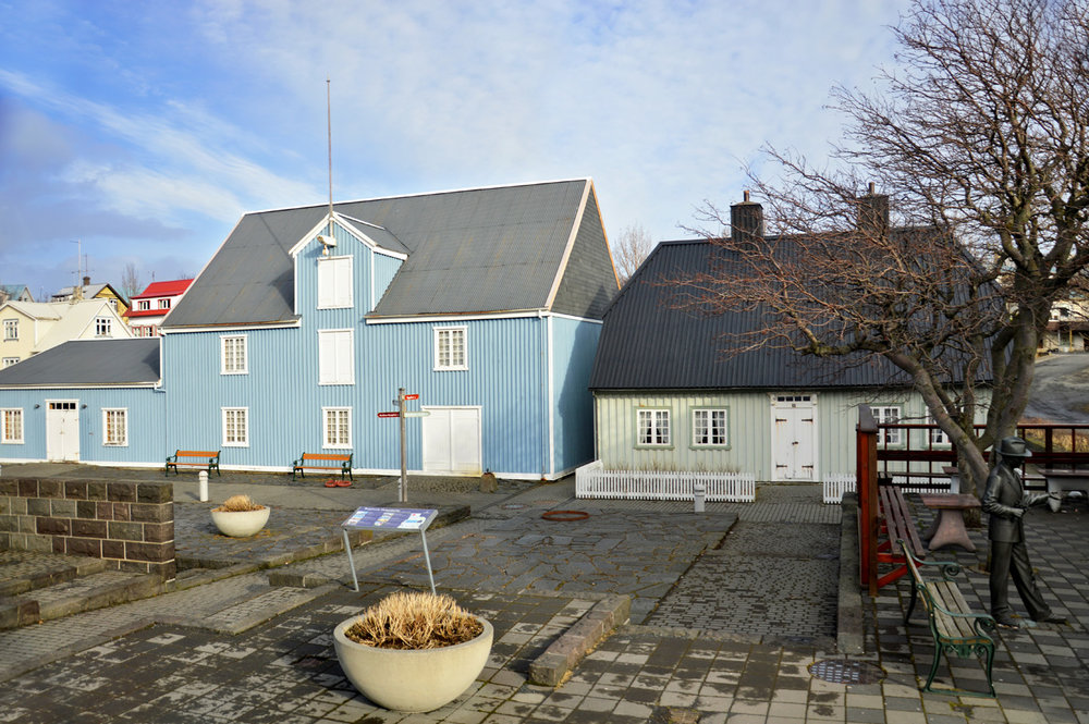 Typical houses around Reykjavik