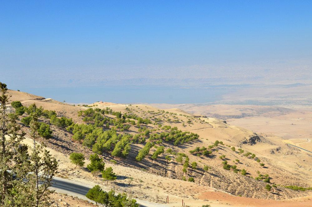 Dead Sea seen fro Mount Nebo