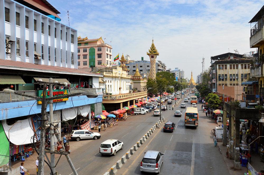 Yangon - Sule Pagoda Road