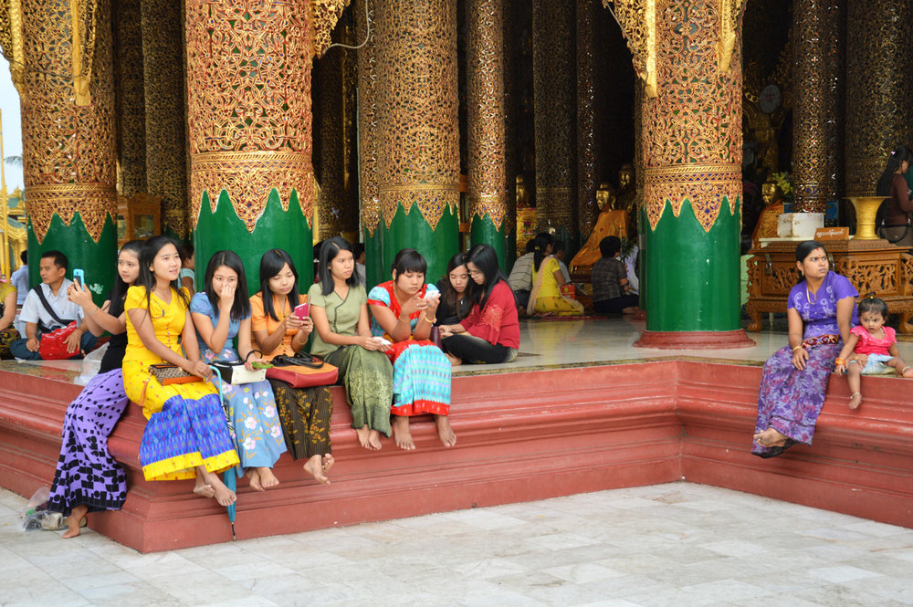 Local people at Shwegadon Pagoda