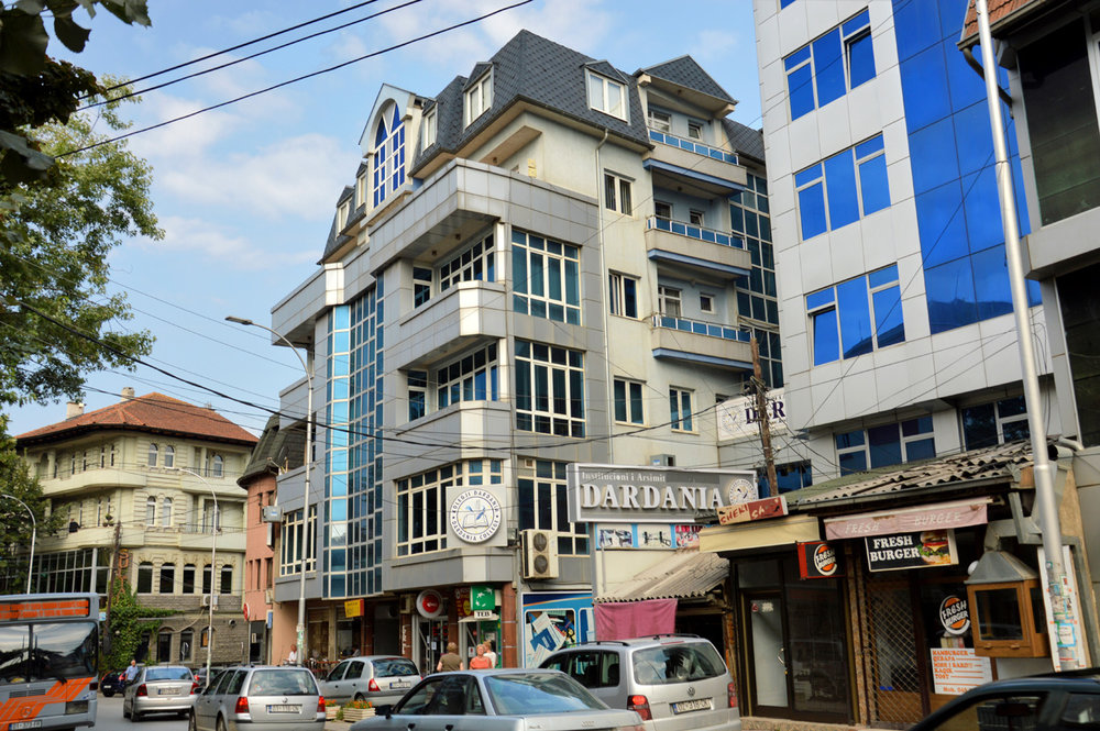 A typical street in Prishtina
