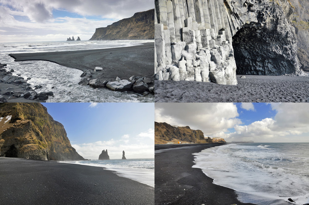 Black beaches in Iceland
