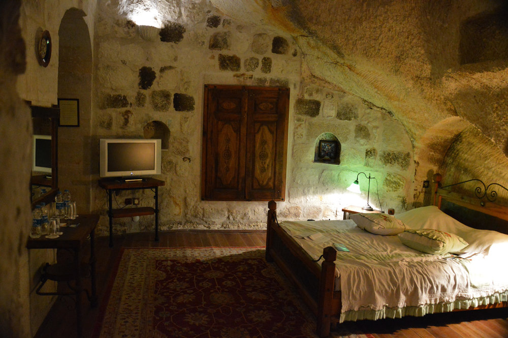 A room in a cave in Goreme