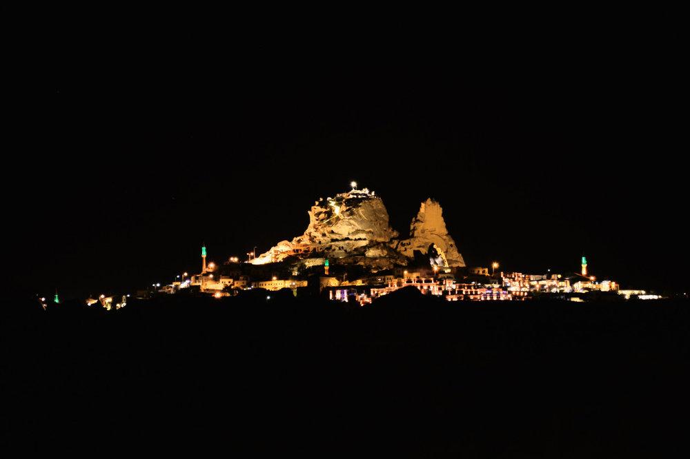Uchisar at night