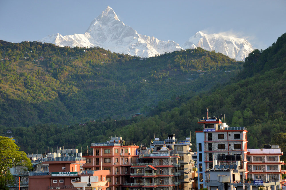 Himalayas in Pokhara
