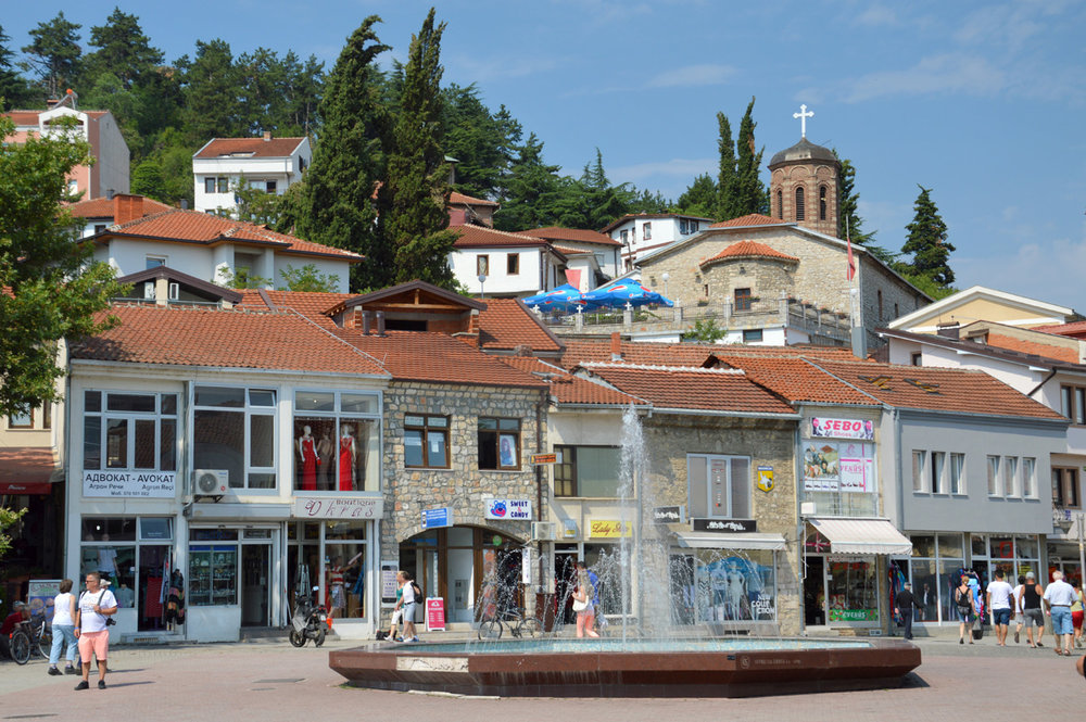 Main square in Ohrid