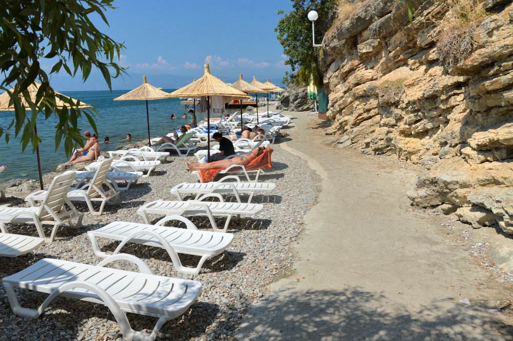 Beach in Ohrid