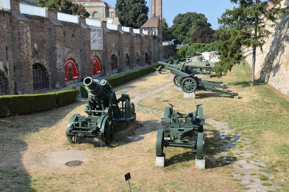 Military equipment at the fortress - part of the Military Museum Exhibition