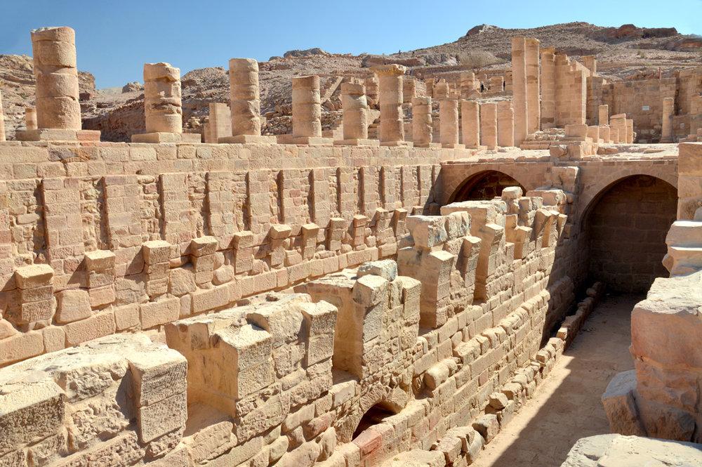 Roman ruins in Petra