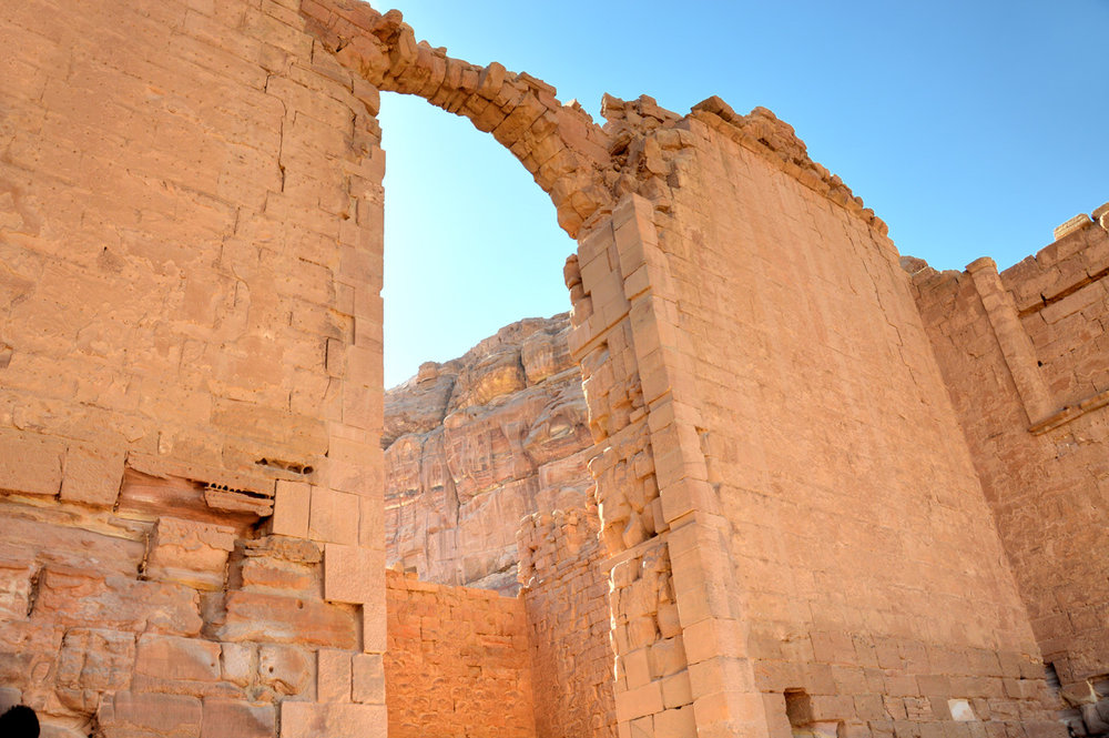 Qasr al-Bint Temple - the arch is preserved