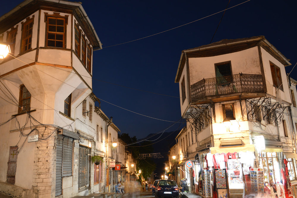 Gjirokaster at night