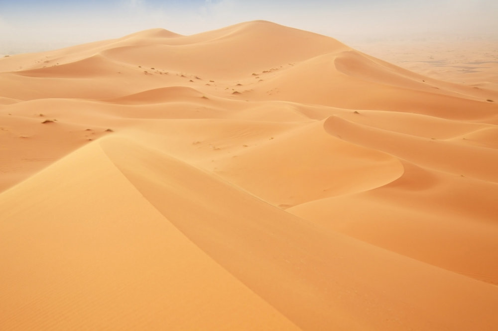 Golden dunes of Sahara - our starting point
