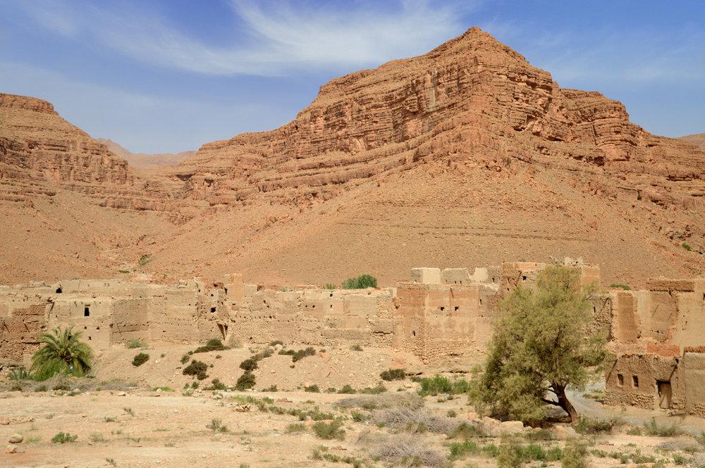 Abandoned Berber town