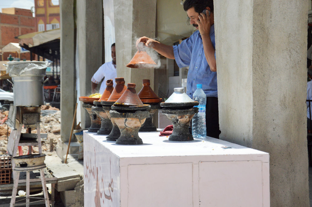 Cooking tajine in a local way